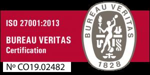 Certificación Bureau Veritas ISO 27001 - 2013