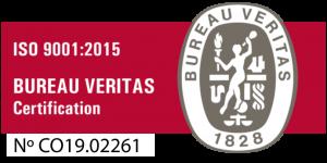 Certificación Bureau Veritas ISO 9001 - 2015